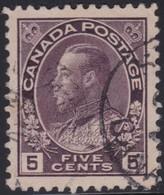 Canada  .  Scott     .      112a    Thin Paper    .      O    .  Cancelled  .   /    .  Gebruikt - 1911-1935 Regering Van George V