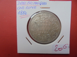 INDES ANGLAISES.1 RUPEE 1886 ARGENT - Colonies
