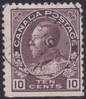 Canada  .  Scott     .      116   .      O    .  Cancelled  .   /    .  Gebruikt - 1911-1935 Regering Van George V