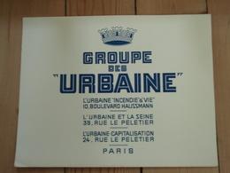 "Grand Buvard  Groupe Des ""URBAINE "" PARIS - Banque & Assurance"