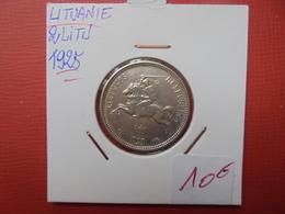LITUANIE 2 LITU 1925 ARGENT - Lituania