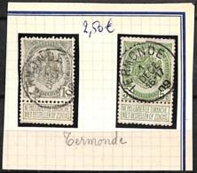[832305]Belgique 1907 - N° 81 Et 83, TERMONDE, Armoiries - 1893-1907 Wappen