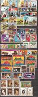 Equatorial Guinea Small Lot 63 Stamps: Sport, Animals, Butterflies, Horses, Sailing Ships, Space, Cosmos, Locomotives - Guinée Equatoriale