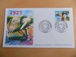 FDC France : 1927, Charles Lindbergh (traversée De L'atlantique) - Paris 15/04/2000 - FDC