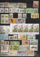 East Africa, Kenya, Tanzania And Uganda, Small Lot 60 Stamps, Birds, Butterflies, Flower, Mushroom, Flag, Fishes, Animal - Kenya (1963-...)