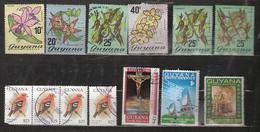 Guyana Small Lot 13 Stamps, Flowers, Bird, Easter, Christmas, Used - Guyane (1966-...)