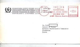 Lettre Flamme Ema Wien Agence Energie  Atomique - Marcophilie - EMA (Empreintes Machines)