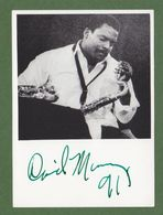 DAVID MURRAY AUTOGRAPH / AUTOGRAMM   In Person Signed Glossy Photo 10/15 Cm  4/6 Inch  *Photo Signee* JAZZ - Autographs