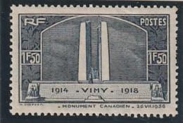 ///  FRANCE  N° 317 ** Côte 37€ Dents Courtes - 1919-1939 République