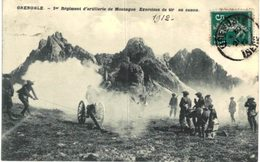 1ER REGIMENT D ARTILLERIE DE MONTAGNE ... EXERCICES AU CANON - Régiments