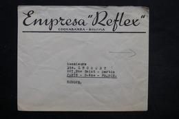 BOLIVIE - Enveloppe Commerciale De Cochabamba Pour Paris , Affranchissement Au Verso - L 25492 - Bolivie