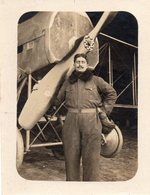 Mécanicien D'avion -   Escadrille Paul Schmitt Photo Datée Du 23 Octobre 1917  - Voir Verso - Guerre, Militaire