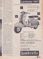 (pagine-pages)PUBBLICITA' LAMBRETTA   Settimanaincom1957/06. - Livres, BD, Revues
