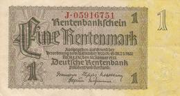 1 Rentenmark Type 1937  J.05916751 - [ 3] 1918-1933 : República De Weimar