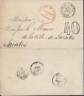 Cachet Rouge Institut De France Académie Des Sciences Taxe Tampon 40 CAD Paris R Bonaparte 3 E 25 Jan 72 Belle Entête - Postmark Collection (Covers)