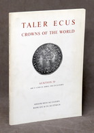 Numismatica - Taler Ecus Crowns Of The World - Auction - Catalogo Asta - 1966 - Livres & Logiciels