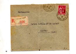 Lettre Recommandee Thouare Sur Paix - Marcophilie (Lettres)