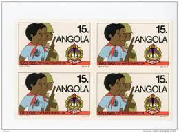 Angola-1989-Pionnier Angolais-1 Valeur En Bloc De 4***MNH - Angola