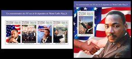 GUINEA 2018 - Martin Luther King - Mi 12995-8 + B2895; CV=40 € - Martin Luther King
