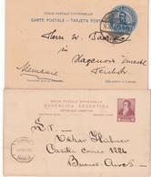 ARGENTINE      ENTIER POSTAL/GANZSACHE/POSTAL STATIONERY LOT DE 2 CARTES - Entiers Postaux