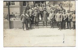 CARTE  PHOTO HEUBERG  -groupe De Soldats Avec Casques à Pique -JOSEF JEUCK PHOTOGR. TRUPPEN UEBUNGSPLATZ HEUBERG BADEN - Guerre 1914-18