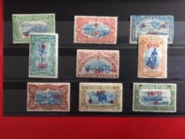 Belgisch Congo - Congo Belge OCB 72-80 (X) Rode Kruis- Croix-Rouge - 1894-1923 Mols: Neufs