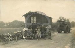 /!\ 9791 - CPA PHOTO - Rouleau Compresseur Et Roulotte - Cartes Postales