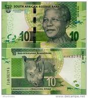 SOUTH AFRICA       10 Rand       P-138[b]       ND (2015)       UNC  [ Sign. Kganyago ] - Sudafrica