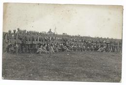 CARTE  PHOTO STETTEN  A;k; M.  -groupe De Soldats Avec Casques à Pique - TRUPPEN UEBUNGSPLATZ -RICHARD LANDES PHOTOGR. - Guerre 1914-18