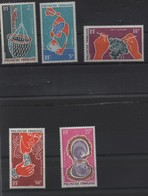 POLYNESIE P.A N° 34/38 ** - - Unused Stamps