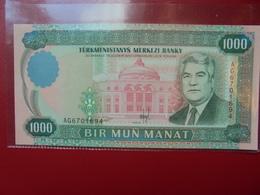 TURKMENISTAN 1000 MANAT 1995 PEU CIRCULER/NEUF - Turkménistan