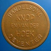 KB244-1 - KNOP EN VAN DER HOEK - Deventer - Bz 22.5mm - Koffie Machine Penning - Coffee Machine Token - Professionnels/De Société