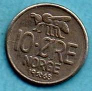 NORWAY / NORVEGE  10 ORE  1968 - Norvège