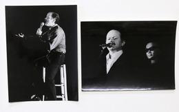 Spettacolo Musica - Lotto 2 Fotografie Del Cantante Gino Paoli - Anni '70 - Foto