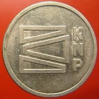 KB245-1 - KNP - Kon Ned Papierfabrieken - Maastricht - WM 22.5mm - Koffie Machine Penning - Coffee Machine Token - Professionnels/De Société