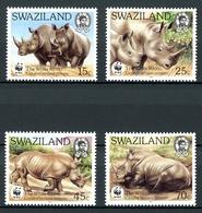Swasiland MiNr. 528-31 Postfrisch MNH Nashörner, WWF (AU1646 - Swaziland (1968-...)