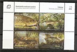 BOSNIA AND HERZEGOVINA 2018,POST MOSTAR,FISHES,FISH,FAUNA,,MNH - Bosnie-Herzegovine