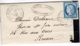 CRIQUETOT LESNEVAL Seine Inférieure Type 17 Sur Ceres N°60 III MAI 76 - Marcophilie (Lettres)