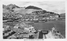 LYTTELTON, HARBOUR & DOCK, NEW ZEALAND ~ AN OLD REAL PHOTO POSTCARD #90835 - New Zealand