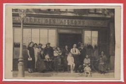 COMMERCE --  CARTE PHOTO - RARE -Café -- Bierre Des Aiglons - Cafés