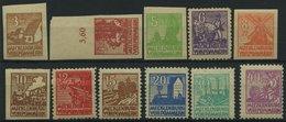 MECKLENBURG-VORPOMMERN 29-40y **, 1946, Abschiedsserie, Graues Papier, Prachtsatz (11 Werte), Mi. 30.- - Sowjetische Zone (SBZ)