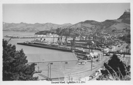 LYTTELTON, NEW ZEALAND - GENERAL VIEW ~ AN OLD REAL PHOTO POSTCARD #90836 - New Zealand