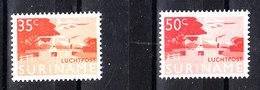 Surinam  - 1965. Aereoplano Sopra La Passerella. The Two Stamps Of Ordinary Series. Airplane Over The Catwalk. MNH - Ponti