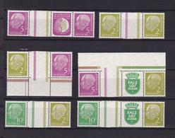 BRD  - 1956 - Zusammendrucke - Michel Nr. WZ 9/WZ 14 - Postfrisch - 92 Euro - BRD