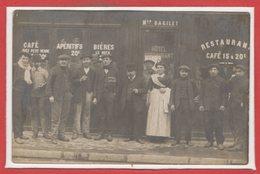 COMMERCE --  CARTE PHOTO - RARE - Café - Restaurant  - Mon BAGILET - Cafés