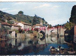 87 - ST SAINT LEONARD DE NOBLAT - LE PONT DE NOBLAT- LAVEUSES  - HAUTE VIENNE - Saint Leonard De Noblat