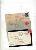 Lettre Flamme Beziers Montpellier Vin - Marcophilie (Lettres)