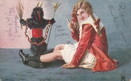 Krampus Postcard 1920 - Nikolaus