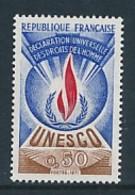 FRANKREICH DIENSTMARKEN  UNESCO Mi.Nr. 12  Allgemeine Erklärung Der Menschenrechte - MNH - Service