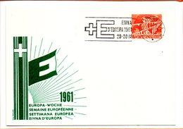 Suisse, Carte De St Moritz Illustrée Au Sujet De La Flamme, Semaine Européenne 1961 - Brieven En Documenten